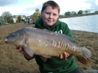 Timmy Axten 11lbs 2oz Mirror Carp from Drayton Reservoir using Mainline Grange CSL.