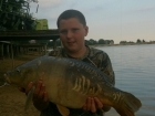 Timmy Axten 15lbs 0oz Mirror Carp from Drayton Reservoir using Mainline Grange CSL.