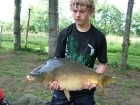 Daniel Smith 17lbs 0oz Mirror Carp from Etang de Cosse using Solar Club Mix (Squid & Octopus, Stimulin and Anchovy).
