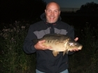 Stephen Barlow 9lbs 8oz Mirror Carp. Hair rigged 14mm luncheon meat 10 hook 3oz lead 12lb Mono