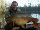 Matt Collins 30lbs 12oz Mirror Carp, Bankside Tackle's 20mm D-Liver.. For more info: www.frenchcarpandcats.com