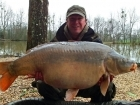Matt Collins 43lbs 0oz Mirror Carp, Bankside Tackle's 20mm D-Liver.. For more info: www.frenchcarpandcats.com