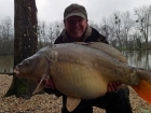 Matt Collins 30lbs 0oz Mirror Carp, Bankside Tackle's 20mm D-Liver.. For more info: www.frenchcarpandcats.com