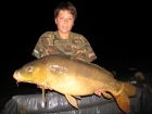 Jack Hudson Edwards 30lbs 2oz carp. double tiger nut cast into deep channel over particle