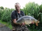 19lbs 0oz Mirror Carp from The Riddings Fishery using dynamite.. fished close to reeds pva bag