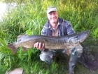 Wally Pickering 21lbs 1oz 1dr pike. river idle pike 21lb 1oz on deadbait popped up..