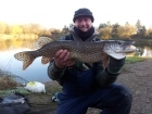 17lbs 3oz Pike from brandsburton nr hull. got this beauty from private lake on deadbait roach..