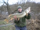 17lbs 2oz Pike from River Dee