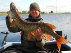 18lbs 2oz Pike from river