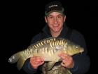 Damian Cyples 9lbs 8oz Mirror Carp from Cudmore Fisheries using Blood Worm.
