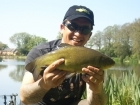 3lbs 10oz Tench from Private Syndicate using Mr Baits - Chilli and Garlic.