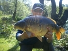 17lbs 4oz Mirror Carp from Private Syndicate using Nutrabaits Pineapple Pop-up.. Center of the lake between the two islands