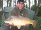 16lbs 2oz Mirror Carp from Private Syndicate using Mr Baits - Chilli and Garlic.. Center of the lake between the two islands