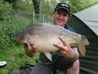 13lbs 4oz Mirror Carp from Private Syndicate using Frank Warwick Hyper Active.