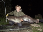 Tom Day 63lbs 8oz catfish from Lodge Lakes