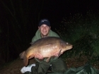 Dan Ross 24lbs 10oz Leather Carp from Rookley Country Park using Carp company.