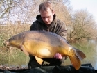 Dan Ross 26lbs 0oz Mirror Carp from Rookley Country Park using Carp company.. Middle rod cast 50yards in line with life ring