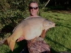 Linda Miller 32lbs 2oz Mirror Carp from millers french fishing holidays- Etang Hirondelle