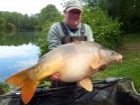 Linda Miller 37lbs 0oz Mirror Carp from millers french fishing holidays- Etang Hirondelle