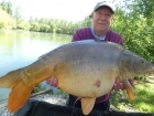 Linda Miller 44lbs 8oz Mirror Carp from millers french fishing holidays- Etang Hirondelle