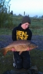 Josh Cox 17lbs 14oz common carp, Nash.. buetifull common - screamin delkim at 5:30 in the morning, playing a 17lb