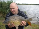 10lbs 15oz Common Carp from Kingswood Lake using Dynamite Green Lipped Mussel.