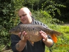 13lbs 2oz Mirror Carp from Bishops Bowl Mitre pool using Mainline Cell.
