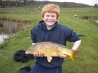 Dean Jones 8lbs 10oz Common Carp from millride fishery using pyramid tutti frutti.