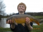 Dean Jones 6lbs 8oz Mirror Carp from millride fishery using pyramid tutti frutti.