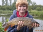Dean Jones 5lbs 8oz Common Carp from turf pool using Mainline Cell.