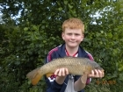 Dean Jones 5lbs 5oz commom carp from millride fishery using dynamite green lipped mussel.