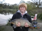 Dean Jones 9lbs 15oz 8dr Common Carp from turf pool using Mainline Cell.