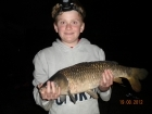 Dean Jones 7lbs 12oz Common Carp, dynamite green lipped mussel.