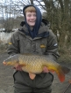 Dean Jones 12lbs 15oz Common Carp, dynamite baits pinapple and tigernut crunch.