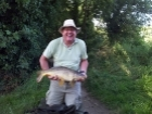 11lbs 9oz Common Carp from Canon`s Ashby. Caught by Stewart, Clive`s brother using five or six ledgered red maggots.