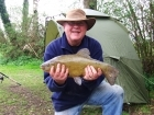6lbs 15oz Tench from The Bridge Inn, Lenwade. Caught by Stewart Wells on multi maggots on size 12 hook with maggot feeder.