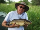 9lbs 4oz Common Carp from Kingfisher Lakes. Caught on multi red maggots.