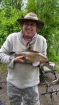 Clive Wells 4lbs 10oz Tench. Very dull and wet day. Bream caught on ledgered shrimp and garlic boilie.