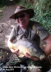 Clive Wells 17lbs 8oz Linear Carp. Carp caught on zig rig approx 6 inches below surface in about 5 foot of water. Bug used was imitation locust.