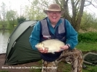 Clive Wells 7lbs 8oz Bream. Caught on float by Stewart Wells. Stewart was fishing on the bottom with sweetcorn as bait.