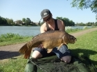 Sam Burley 24lbs 0oz Mirror Carp from Stowe Pool. Stalking in the margins