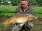 Kieron Axten 21lbs 3oz Mirror Carp from Etang de Cosse using Solar Club Mix (Squid & Octopus, Stimulin and Anchovy).