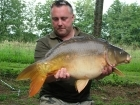 Kieron Axten 22lbs 7oz Mirror Carp from Etang de Cosse using Solar Club Mix (Squid & Octopus, Stimulin and Anchovy).