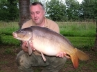 Kieron Axten 21lbs 5oz Mirror Carp from Etang de Cosse using Solar Club Mix (Squid & Octopus, Stimulin and Anchovy).