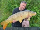 19lbs 5oz Common Carp from Mas Bas - Angling Lines Holidays using Quest Baits Rahja Spice.