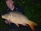 Kieron Axten 23lbs 9oz Mirror Carp from Mas Bas - Angling Lines Holidays using Quest Baits Rahja Spice.