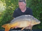 Kieron Axten 24lbs 15oz Mirror Carp from Mas Bas - Angling Lines Holidays using Quest Baits Rahja Spice.