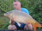 Kieron Axten 26lbs 11oz Mirror Carp from Mas Bas - Angling Lines Holidays using Quest Baits Rahja Spice.