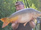 Kieron Axten 26lbs 13oz Mirror Carp from Mas Bas - Angling Lines Holidays using Quest Baits Rahja Spice.