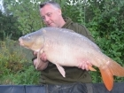 Kieron Axten 24lbs 8oz Mirror Carp from Mas Bas - Angling Lines Holidays using Quest Baits Rahja Spice.